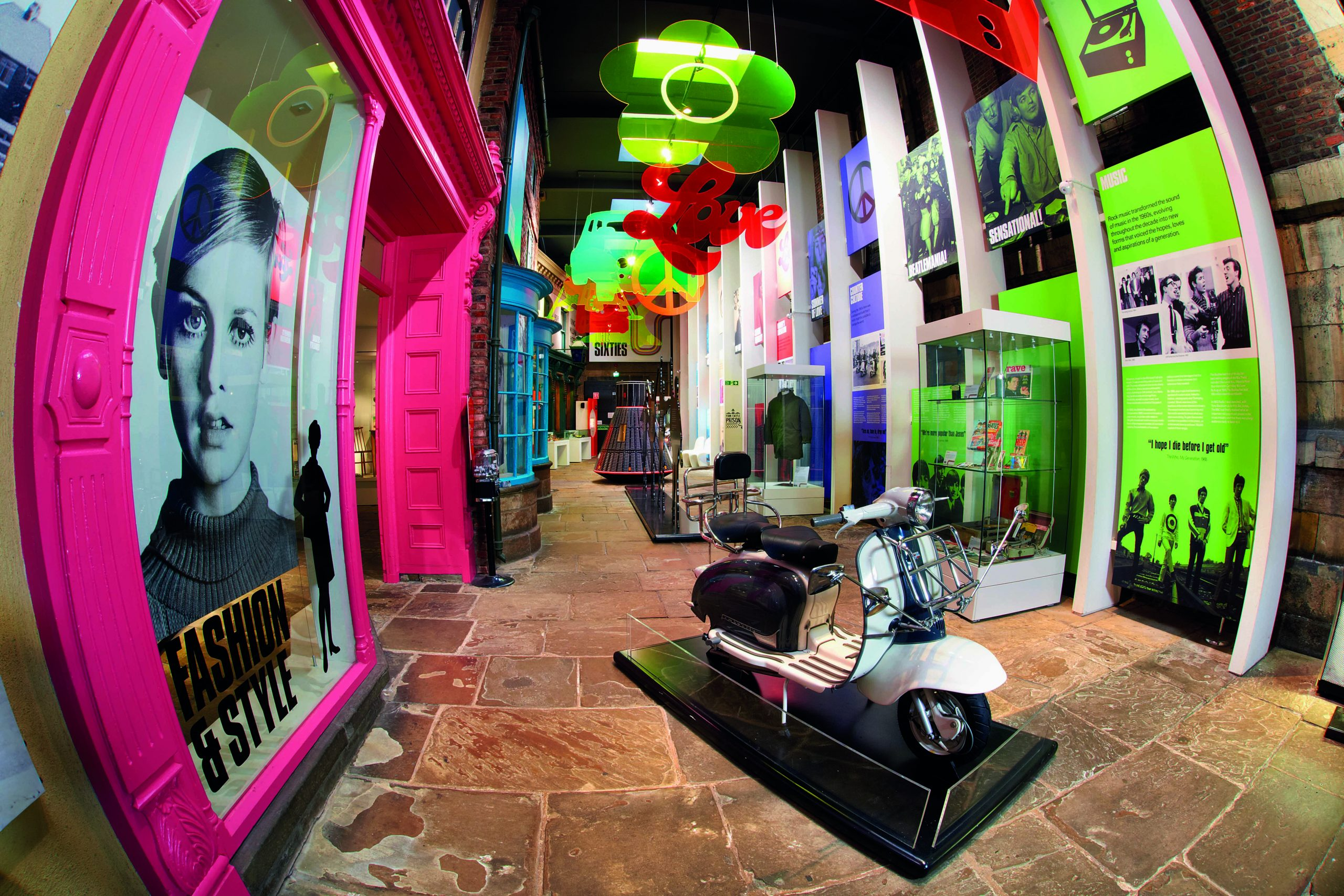 York Castle Museum Sixties exhibition