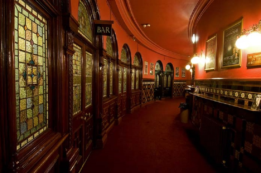 Leeds Grand Theatre Dress Circle corridor - Visit Leeds