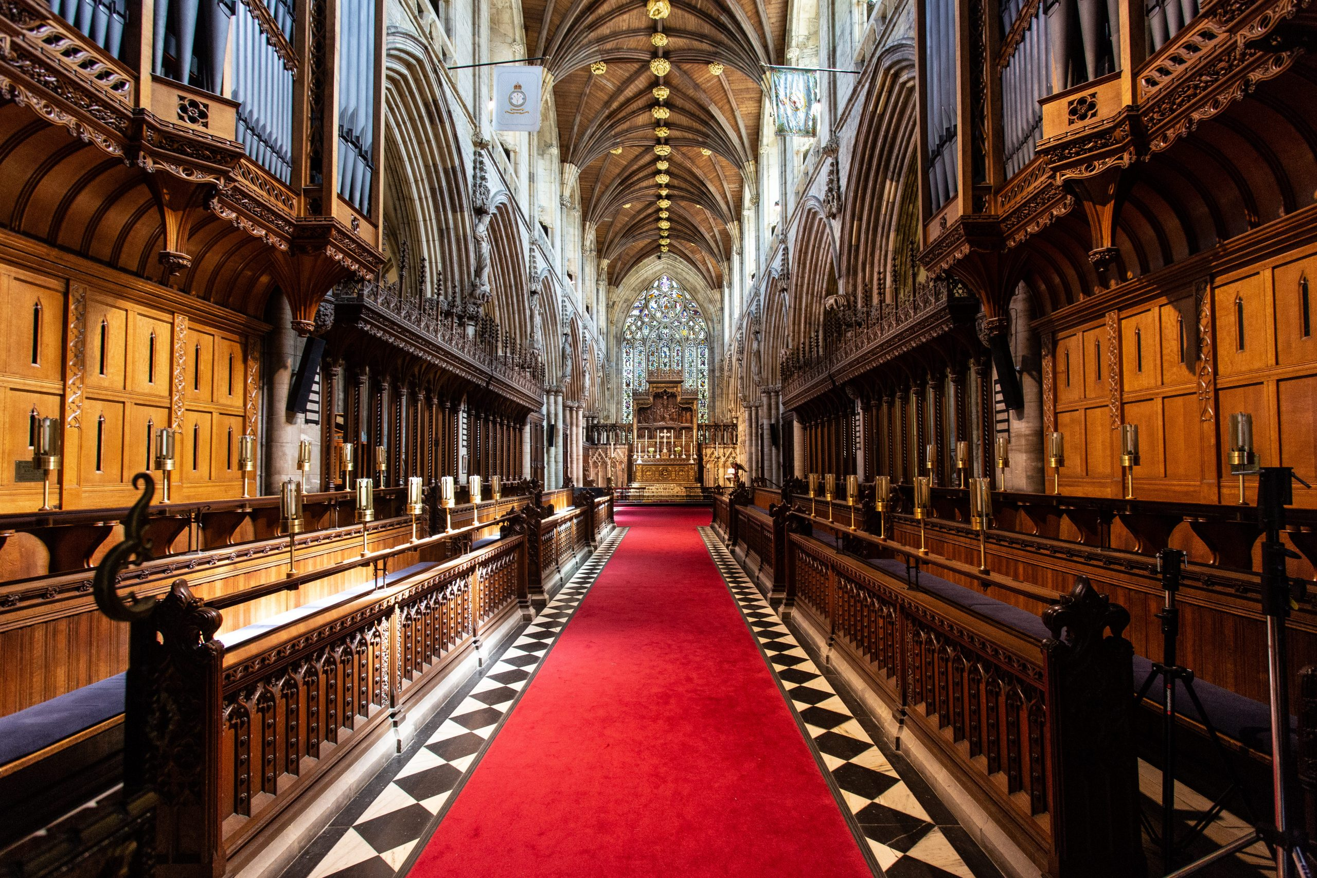 Selby Abbey's celebrated interior