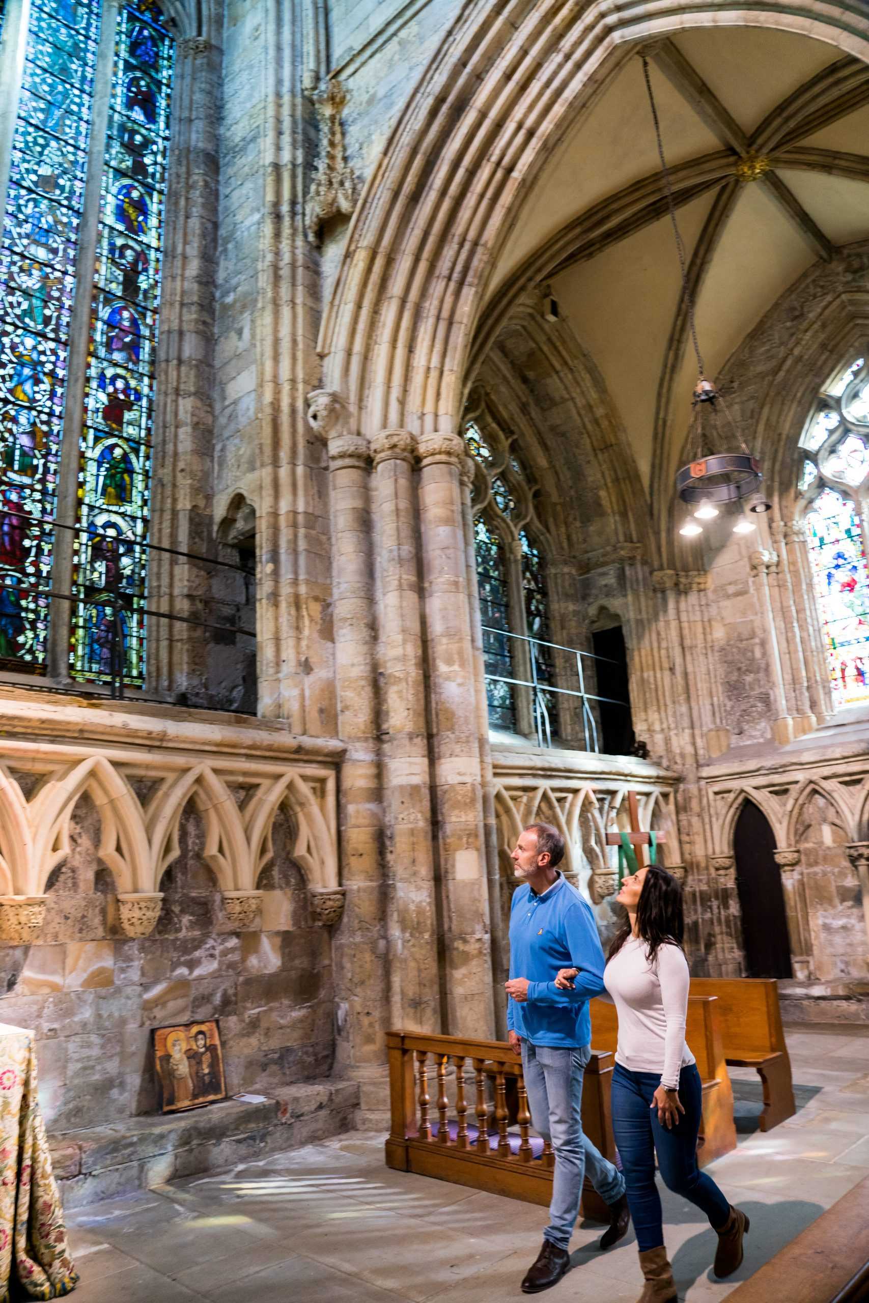 Stained glass windows at Selby Abbey